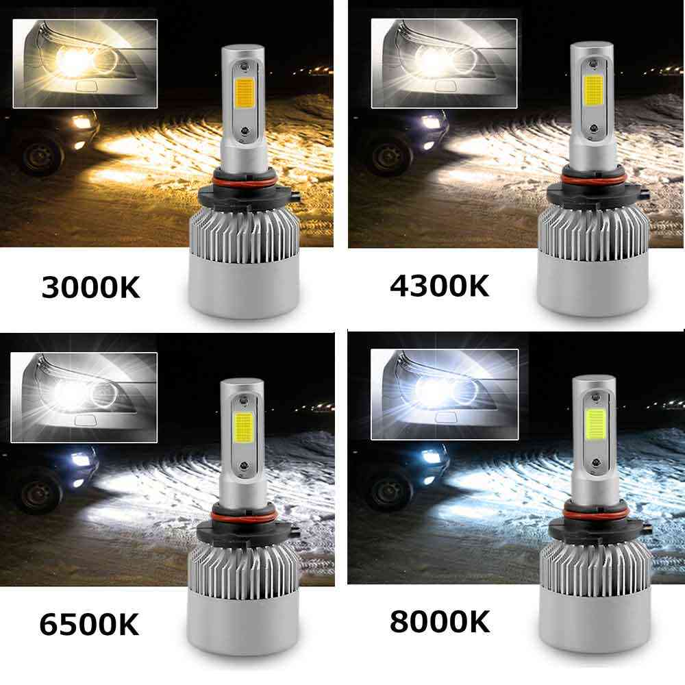 H7 LED H4 H11 COB Car Headlight Bulbs 9005 9006 12V H3 H1 H8 H9 9012 72W 8000LM  Led lamps 8000K 6500K 4300k 3000K S2 Wholesale