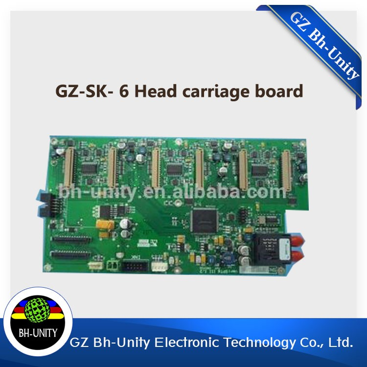 Gongzheng printer spare parts gongzheng sk 6 head carridge board for sale hot sale uv flatbed plotter printer spare parts gongzheng gz thunderjet black sub ink tank with level sensor