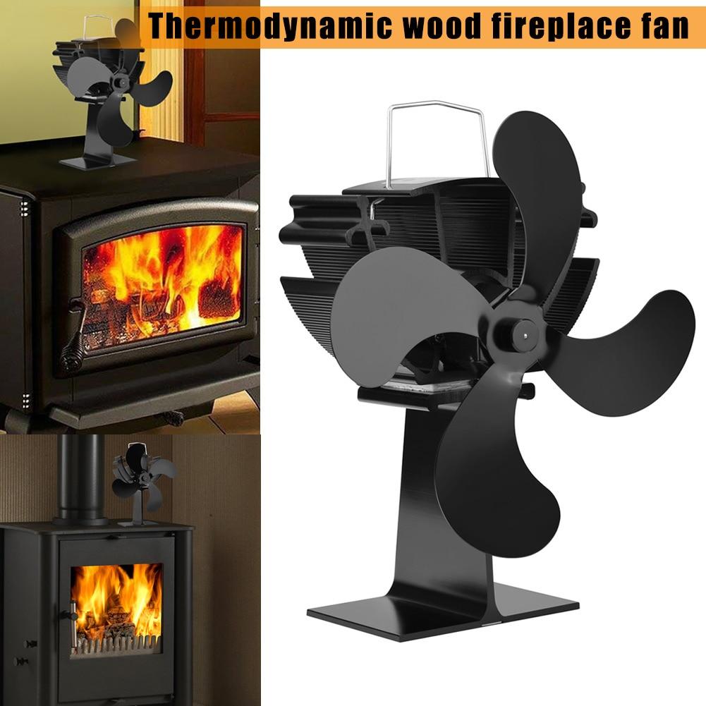 Heat Powered Stove Fan Wood Stove Fans Silent Eco Friendly Wood Log Fireplace Fan HY99 OC11