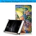ИСКУССТВЕННАЯ Кожа Магнитная Смарт Обложка Для Huawei MediaPad T2 7.0 Pro Case Живопись Tablet Case для Huawei Mediapad T2 7.0 Pro Крышка