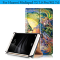 PU Leather Magnetic Smart Cover For Huawei MediaPad T2 7.0 Pro Case Painting Tablet Case for Huawei Mediapad T2 7.0 Pro Cover
