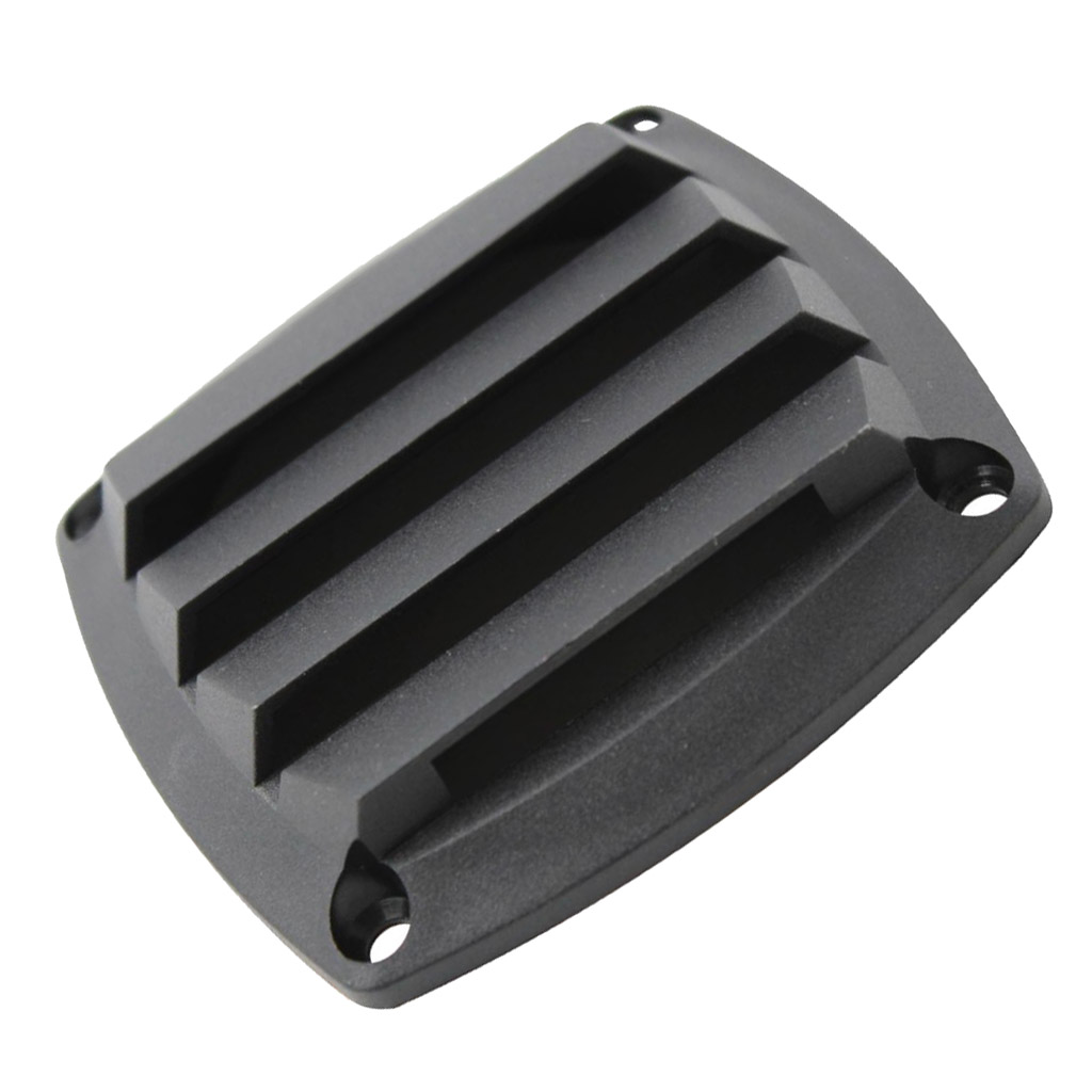 3 Inch Louvered Vents Style Boat Marine Hull Air Vent Grill Cover - Black High Quality Plastic Weather Resistance