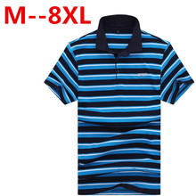 Plus size 10XL 9XL 8XL 6XL 5XL Summer New Arrival Men Polo Shirt Fashion Good Quality Classic Striped Homme Camisa Short Sleeves
