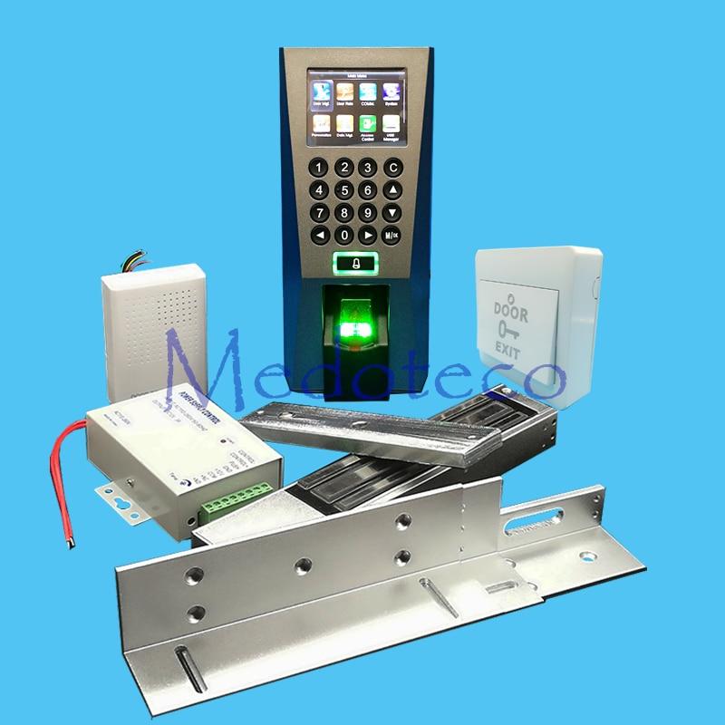 DIY Full Fingerprint Door Access Control System Kit Fingerprint Access Controller +280KG Magnetic Lock + ZL Bracket Wood Door