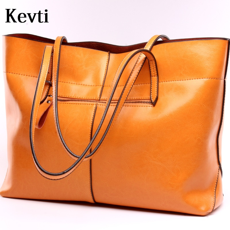 ФОТО KEVTI Luxury Genuine Leather Women Large Casual Handbag Real Cow Leather Female Shoulder Bags Brand Designer tote High Quality