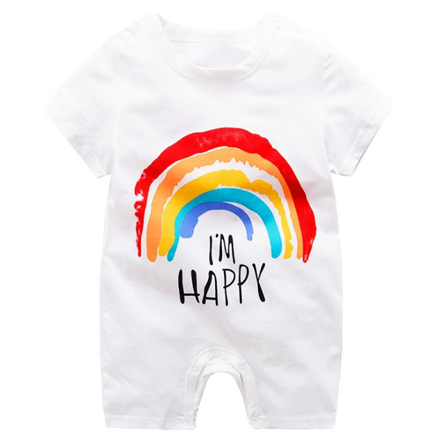 baby clothing 100% cotton unisex rompers baby boy girls short sleeve summer cartoon toddler cute Clothes  4