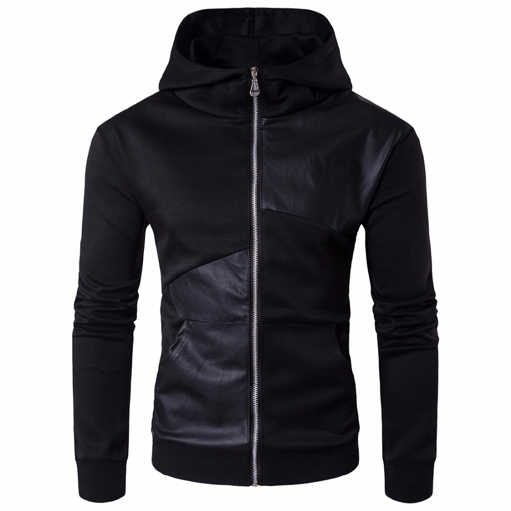 2019 модные толстовки с капюшоном Для мужчин Толстовка Топ пуловер Блузка Hombre хип хоп Для мужчин s Черный Толстовка с капюшоном на молнии Slim Fit Мужская толстовка - 2