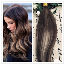 Full Shine 2016 New Fashion Balayage Ombre Hair Bundle Color #3#24#3 100% Human Hair Weaving Cheap Human hair 100g Lot
