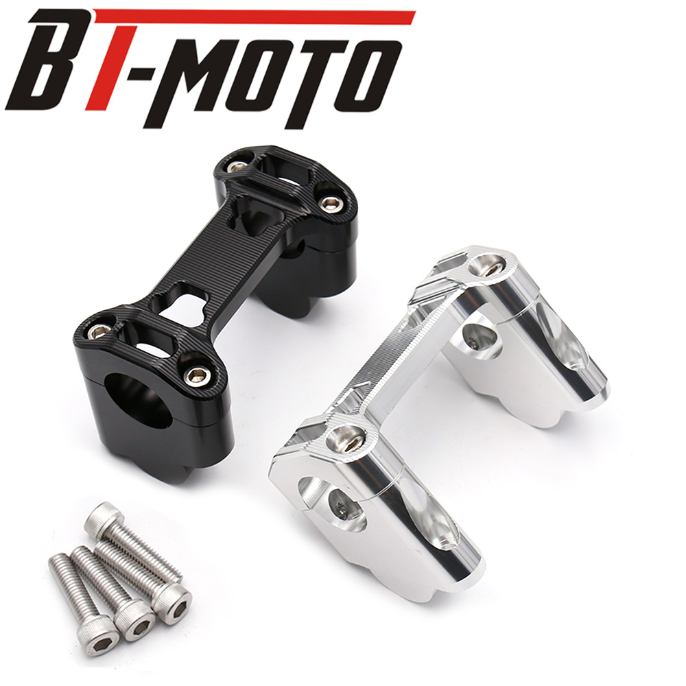 Motorcycle Heightening Handle Bar Clamp Raised Extend Handlebar Mount Riser For BMW R1200GS LC ADV 2014 2015 2016 2017
