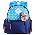 New Cute Kids School Bags Cartoon print Applique Canvas Backpack Mini Baby Toddler Book Bag Kindergarten Rucksacks