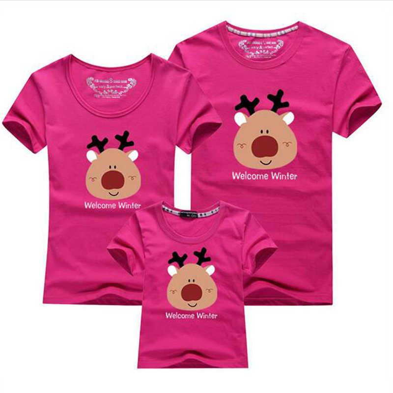 Nuovo Familiari Corrispondenza Set Abbigliamento 2020 Famiglia Sguardo Di Natale Deer Stampa Vestiti Madre Figlia del Padre Figlio Bambini T-Shirt Regalo