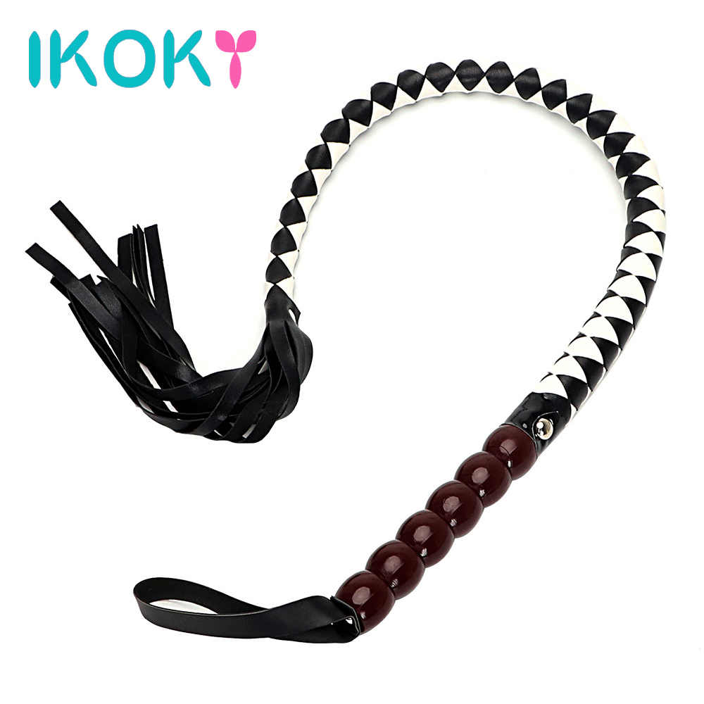 IKOKY Role Play PU Leather Policy Adult Games Paddle Erotic Toys Flirting Teasing Sex Toys for Couple Spanking Sex Whip