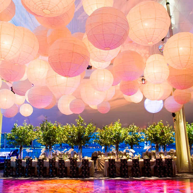 "6"" 8"" 10"" 12"" 14"" 16"" Decorative Paper Lampion Ball 10-15-20-25-30-40cm Festival Chinese Paper Lantern Wedding Party Decoration"