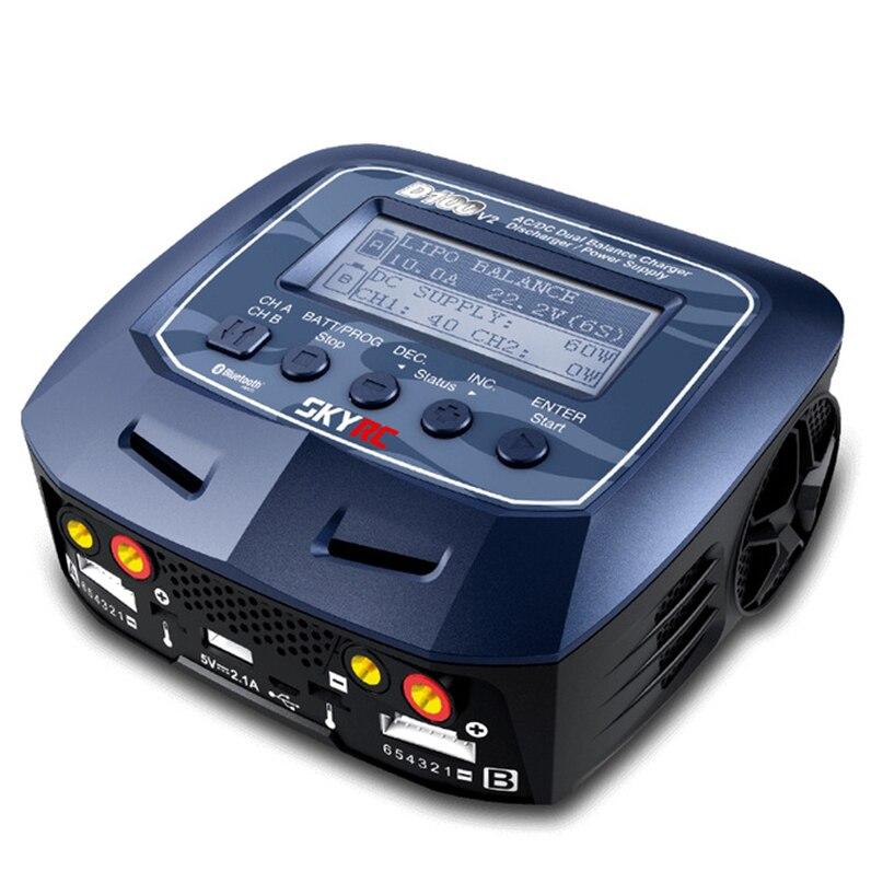 D100 V2 AC/DC Double Solde Chargeurs Déchargeurs/Alimentation US/EU Plug pour LiPo/Vie /LiIon/LiHV/NiMH/NiCd/Pb Batterie