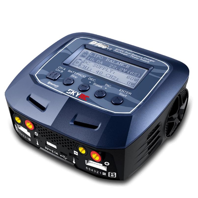 D100 V2 AC/DC Dual Balance cargador descargador/Fuente de alimentación ee.uu./UE para LiPo/LiFe /LiIon/LiHV/NiMH/NiCd/Pb