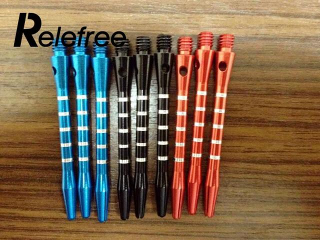 Relefree 9Pcs Darts Shafts Colourful Aluminum Medium Harrows Throwing Toy New Needle  Darts Shafts Darts accessories