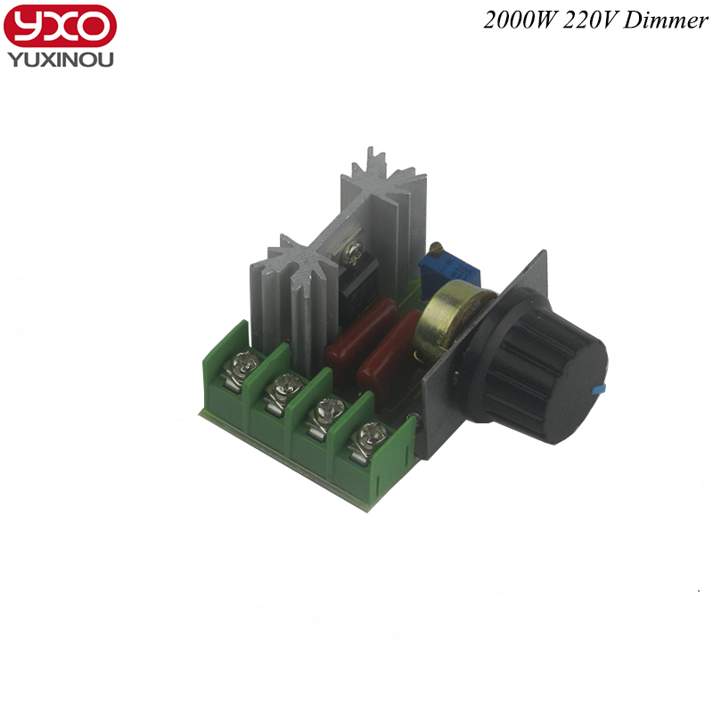 High Quality 1Pc 2000W 220V Dimming Dimmers Thermostat SCR Speed Controller Voltage Regulator