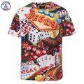 Mr.1991INC Европа Америка Свободные Модный Бренд Футболку Мужчины Лето Топы Тис Рубашки Печати Покер с Кубиком Вегас футболка 3d Футболка