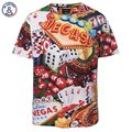 Mr.1991INC Europe America Loose Fashion Brand T-shirt Men Summer Tops Tees Shirts Print Dice Poker Vegas T shirt 3d Tshirt