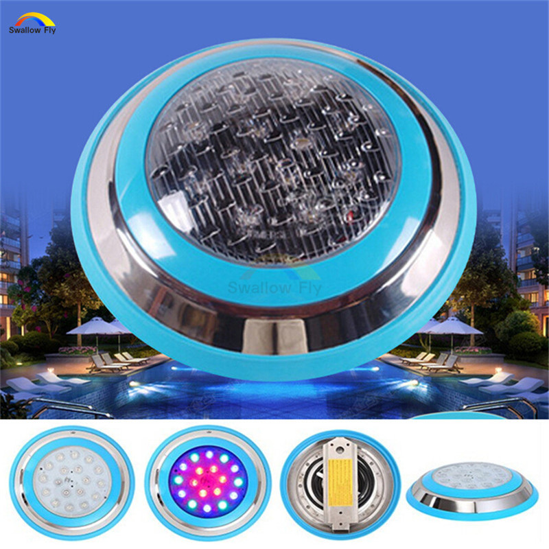 все цены на  RGB LED Swimming pool light IP68 Waterproof LED underwater Lamp Fountain Light Outdoor Lighting Pond lights AC 12V  онлайн