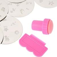 New Professional Nail Art Stamper Scraper Set Diy Polish Transfer Stamp Manicure Stamping Image Plate Tools