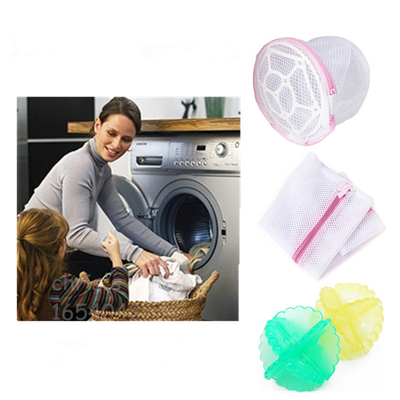 3pcs Lot Polyster Foldable Bra Wash Bags Laundry Bag, Home Washing Machine Usage Protecting Container For Washing Bra