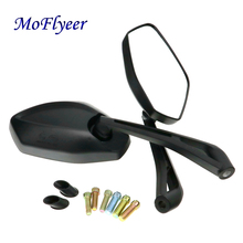 MoFlyeer Universal Motorcycle Rearview Mirror Motorbike Rear View Mirrors  Back Side Mirror ATV Moto Dirt Pit Bike Scooter