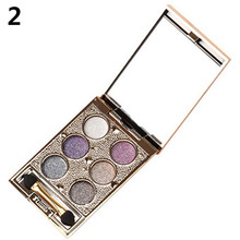 Hot! 6 Colors Makeup Warm Nude Smoky Shimmer Glitter Eye Shadow Palette Cosmetic