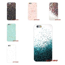 For Sony Xperia M2 M4 M5 E3 XA Aqua Z Z1 Z2 Z3 Z5 compact LG K4 7 8 10 V20 V30 2017 Case Pro Kawaii Gold Confetti Dots wallpaper(China)