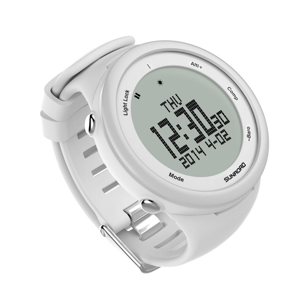 SUNROAD ปีนเขากีฬาดิจิตอลนาฬิกากันน้ำผู้ชาย Pedometer เครื่องวัดระยะสูง Reloj Mujer นาฬิกา-ใน นาฬิกาข้อมือดิจิตอล จาก นาฬิกาข้อมือ บน   3