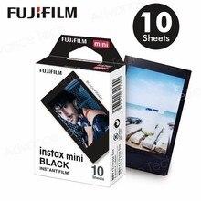 Новинка 2017 года поступление Подлинная Fujifilm Instax Mini черный границы Плёнки 10 Простыни детские для Mini. 8 плюс 70 90 25 50 s Камера поделиться SP 1 SP 2