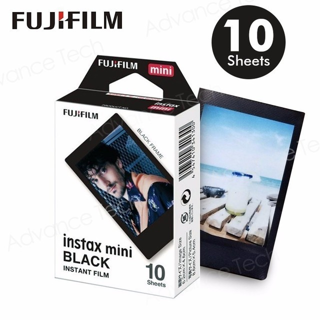 2017 New arrival Genuine Fujifilm Instax Mini Black border Film 10 Sheets for Mini. 8 Plus 70 90 25 50s Camera Share SP 1 SP 2