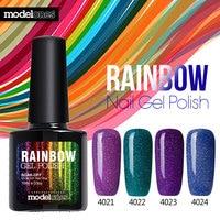 Modelones 2017 Fashion Neon Nail Gel Polish Soak Off UV Colorful Nail Colors Art For gel nail polish Long-lasting Gel