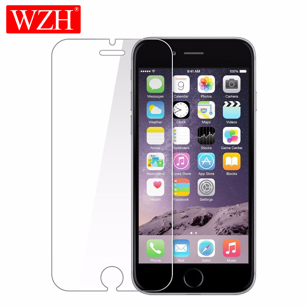 WZH Protective-Glass Screen-Protector 8 Glass iPhone 7 XR 6s-Plus for XS MAX 5s 5c SE