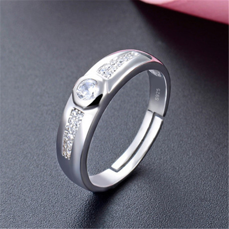 solid 925 silver bezel ring stamped 925 diy ring adjustable mens jewellery