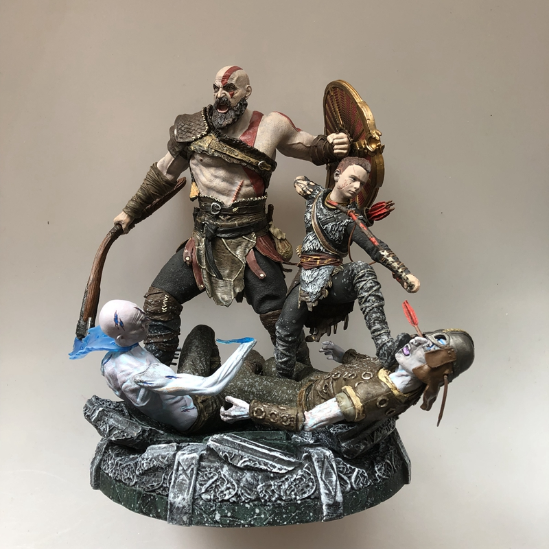 Quality Original Garage Kit 25cm God of War 4 Scene Moment Play Arts KAI Action Figure with Base Collectible Model Loose ToyQuality Original Garage Kit 25cm God of War 4 Scene Moment Play Arts KAI Action Figure with Base Collectible Model Loose Toy