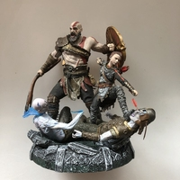 Quality Original Garage Kit 25cm God of War 4 Scene Moment Play Arts KAI Action Figure with Base Collectible Model Loose Toy