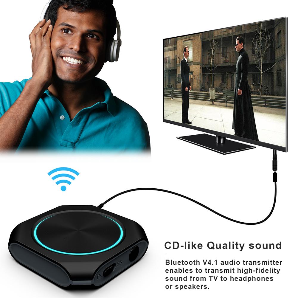 Prix pour ZW-420 Bluetooth 4.1 Musique Émetteur ou Récepteur avec Rechargeable au lithium batterie CSR8670 2in1 Hifi Musique Dongle