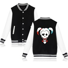 Suicide Squad Harley Quinn Jacket Woman and Pink Girls Hoodie in Coats and Coat loose Jackets Friday Plus size 4xl