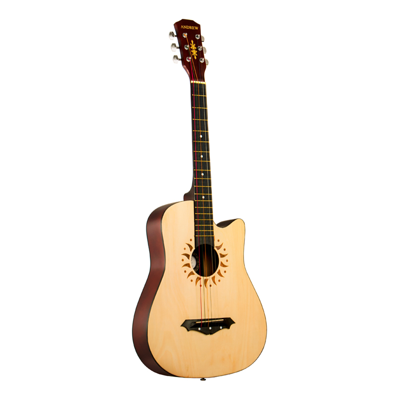 beginner student adult introduction self taught 38 inch male and female wooden guitar in guitar. Black Bedroom Furniture Sets. Home Design Ideas