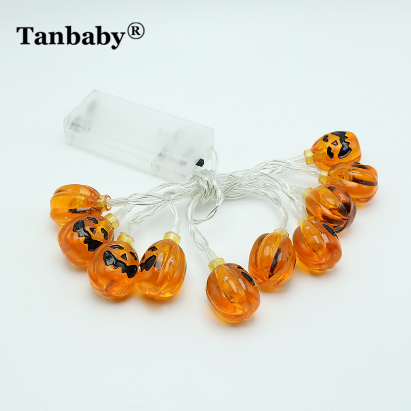 Tanbaby 1.2M or 2.2M Pumpkin led fairy string light battery operated IP20 Indoor decoration for Halloween,party,garden,Trees