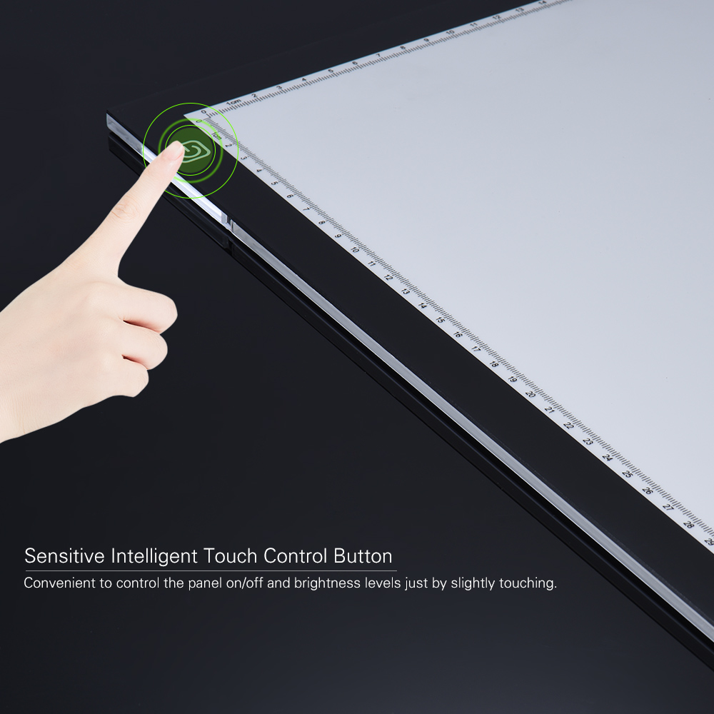 A3 Led Light Pad Box Drawing Tracing Tracer Copy Board Intelligent Touch Control 3 Adjustable Brightness Levels Table Pad Panel Novelty & Gag Toys