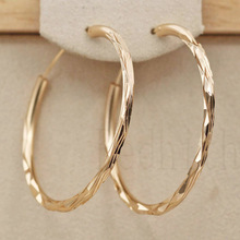 2019 New Modis Metal Earrings For Women Big Gold Hoop Hip Hop Fashion Round Circle OBS2923