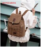 New shelves women's canvas backpack vintage school backpacks fashion feminine Laptop backpack travel bags