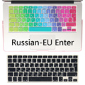 Silicone EU / UK tampa do teclado adesivos alfabeto russo Protector para MacBook Air 13.3 Mac Book Pro 13 15 Retina
