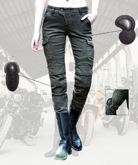 Leisure uglyBROS Featherbed jeans Ms motorcycle pants retro motorcycle riding pants scooter moto motorbike jeans