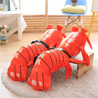 Stuffed & plush animals mantis shrimp cute lobster doll pimp shrimp we walk plush toys funny lobster pillow popular toys