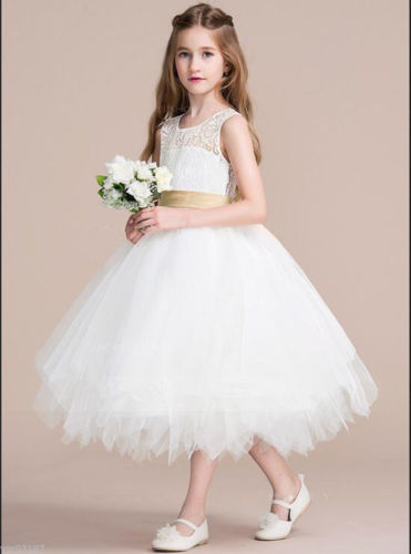 Flower Girl Kids Princess Vintage Lace Dress butterfly dress girl lace panel see thru vintage dress
