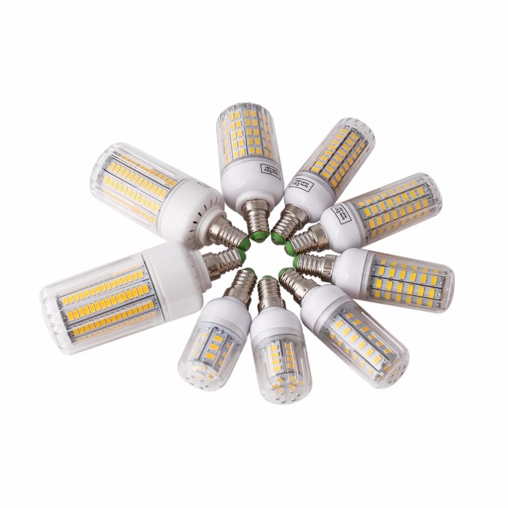 LED Bulb E27 E14 SMD 5730 LED Lamp 24 30 42 64 80 89 165leds Lampada Corn Bulbs Light Chandelier Lamps For Home 220V
