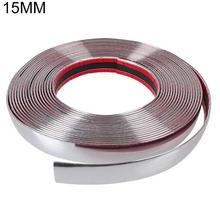 15m Car Body Strip Bumper Auto Door Protective Moulding Styling Trim Sticker Durable
